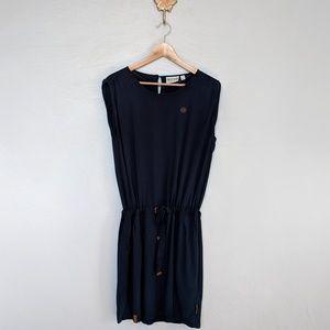 Naketano tie waist dress, navy blue dress